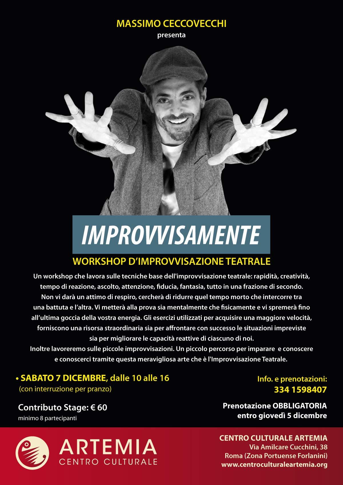 IMPROVVISAMENTE – Workshop d'Improvvisazione Teatrale con Massimo Ceccovecchi