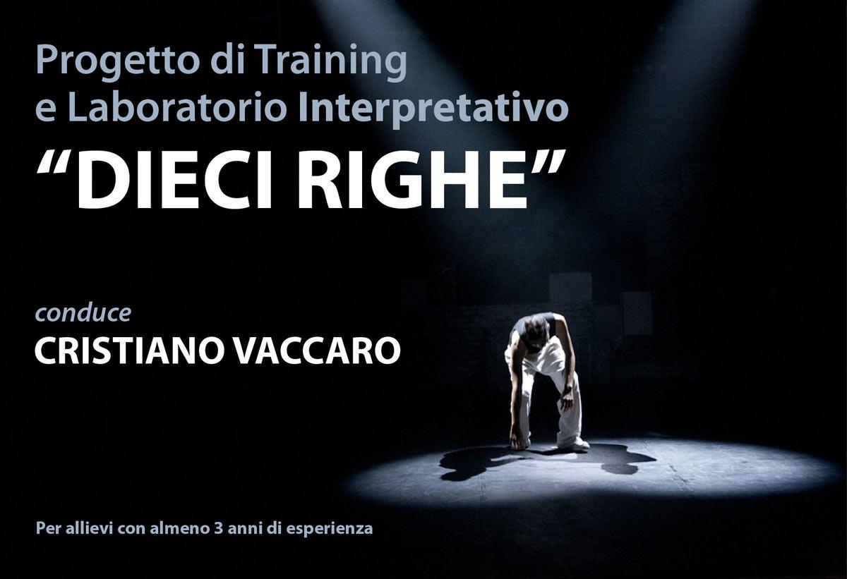 """Training e Laboratorio Interpretativo """"DIECI RIGHE"""""""