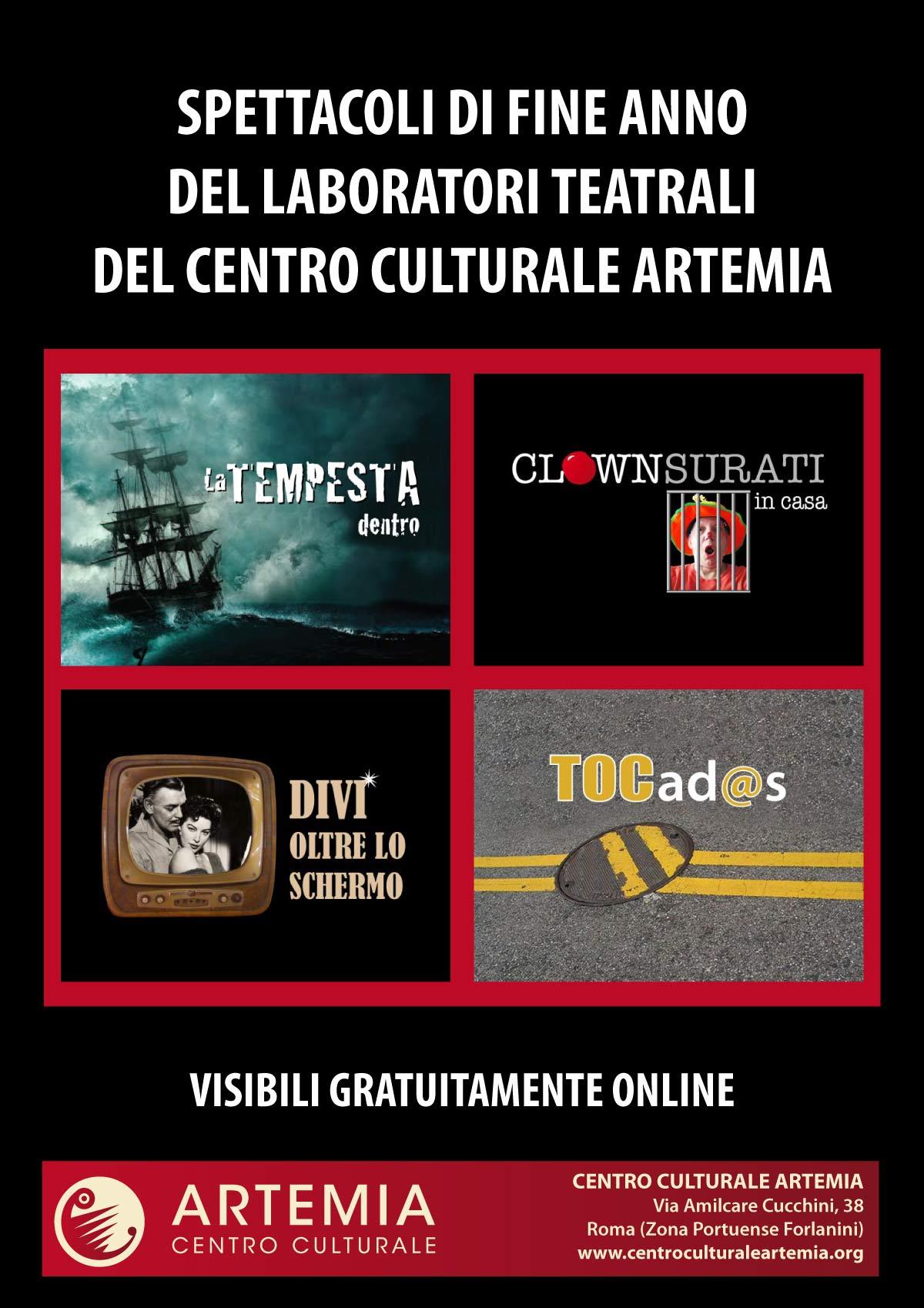 Spettacoli di fine anno dei Laboratori Teatrali del Centro Culturale Artemia